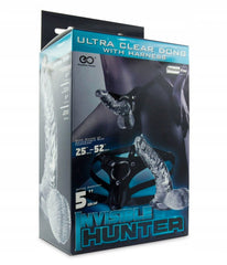 "5"" Invisible Hunter Strap-On (Clear)"