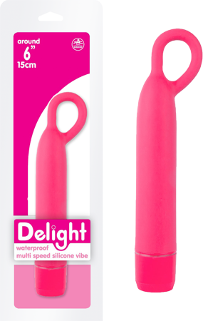 "Delight - 6"" Waterproof Multispeed Silicone Vibe (Pink)"