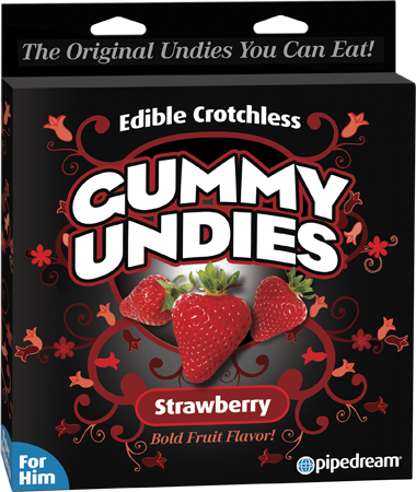 Edible Male Gummy Undies (Strawberry)