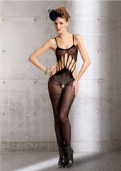 Peacock Crotchless Sleevless Body Stocking OS