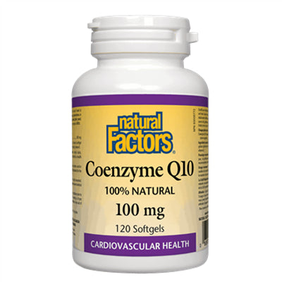 Natural Factors Coenzyme Q10 100mg 120 Softgels