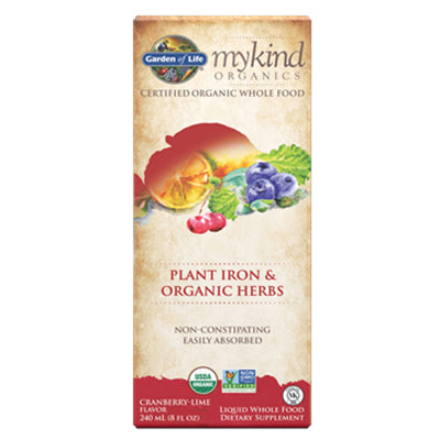 Garden of Life MyKind Organics Liquid Plant Iron 240ml