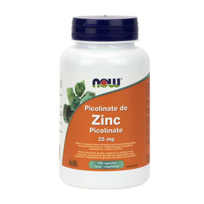 Now Zinc Picolinate 25mg 100 Capsules