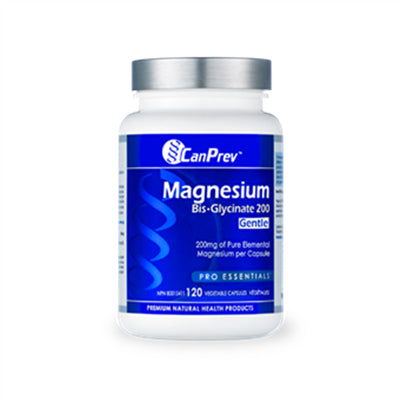 CanPrev Magnesium Bis-Glycinate 200mg Gentle 120 VCapsules