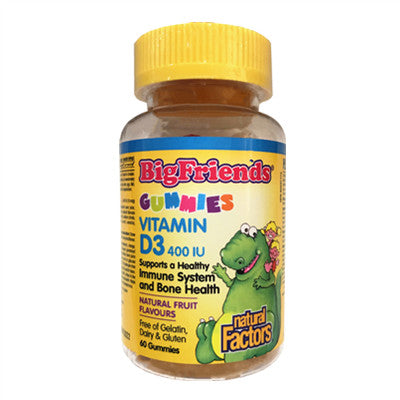 Natural Factors Big Friends Vitamin D3 400 IU 60 Gummies