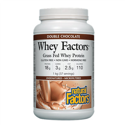 Natural Factors Whey Factors Double Chocolate 1kg