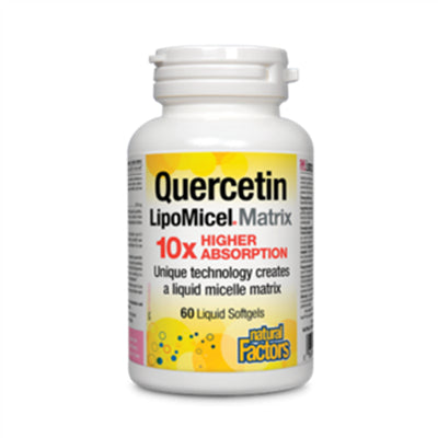 Natural Factors Lipomicel Quercetin 250mg 60 Softgels