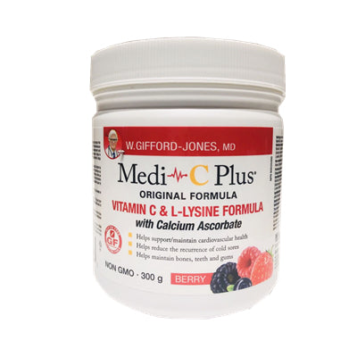 W. Gifford Jones Medi-C Vitamin C & L-Lysine  with Calcium berry Flavor 300g