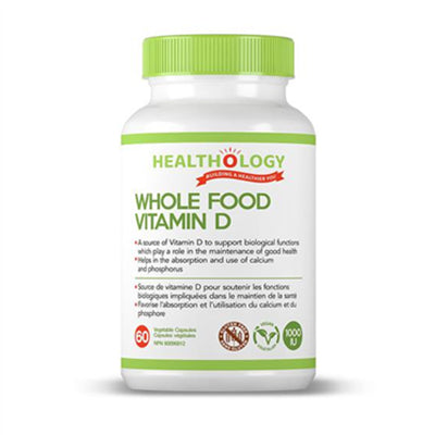 Healthology Whole Food Vitamin D 60 VCapsules