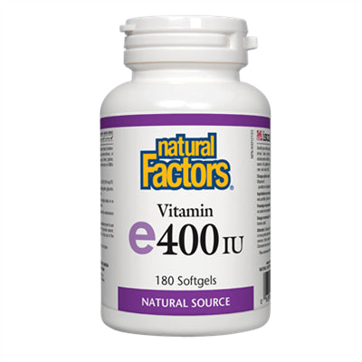 Natural Factors Vitamin E 400 IU, Natural Source 180 Softgels