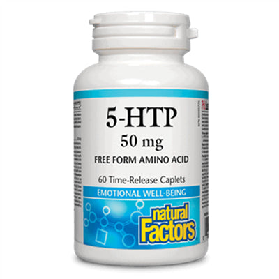 Natural Factors 5HTP 50mg TR 60 Caplets