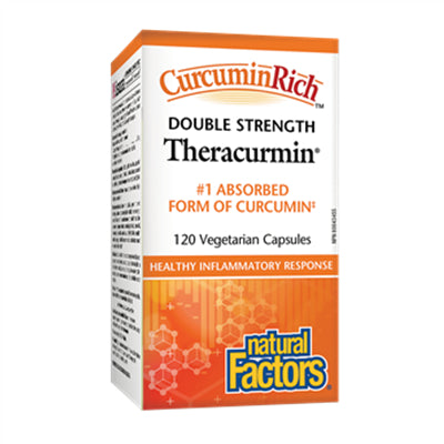 Natural Factors CurcuminRich Theracurmin Double Strength 60 mg 120 VCapsules