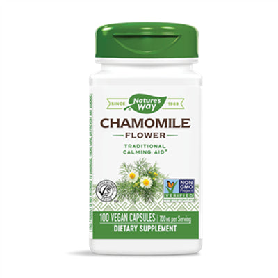 Nature's Way Chamomile Flowers 100 Capsules