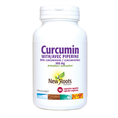New Roots Curcumin + Piperine 500mg 90 Capsules