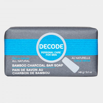Decode All Natural Bamboo Charcoal Bar Soap Citrus Vetiver 148 g