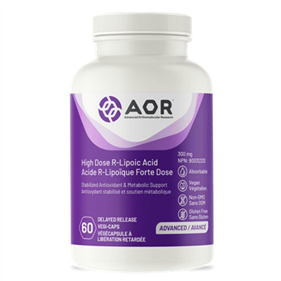 AOR High Dose R-Lipoic Acid 300mg 60 VCapsules