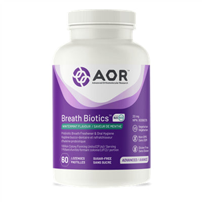AOR Breath Biotics 60 Lozenges