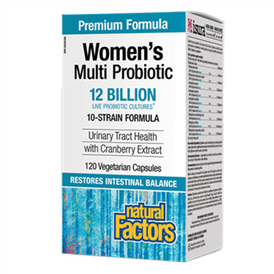 Natural Factors Women's Multi Probiotic with CranRich® 12 Billion Active Cells 120 VCapsules