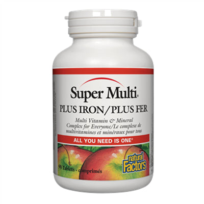 Natural Factors Super Multi® Plus Iron 90 Tablets