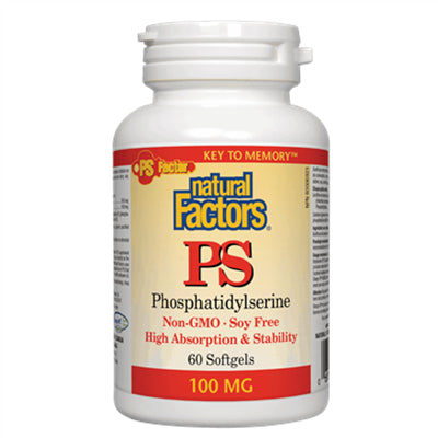 Natural Factors PS Phosphatidylserine 100 mg 60 Softgels