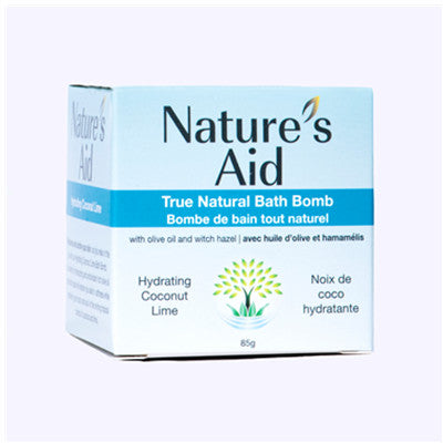 Nature's Aid Bath Bomb Hydrating Coconut Lime 85g
