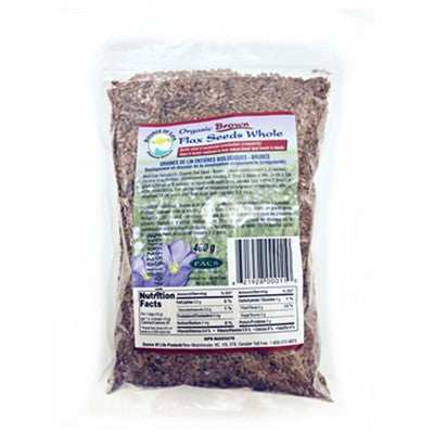 Source of Life Organic Brown Flax Seed 400g