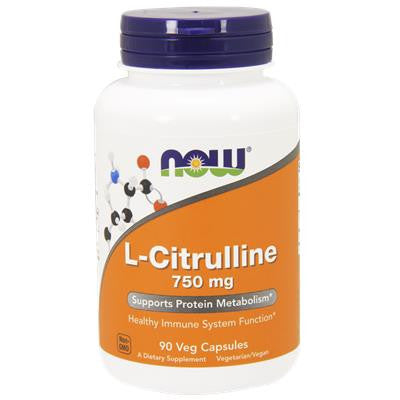 NOW L-Citrulline 750 mg  90 VCapsules