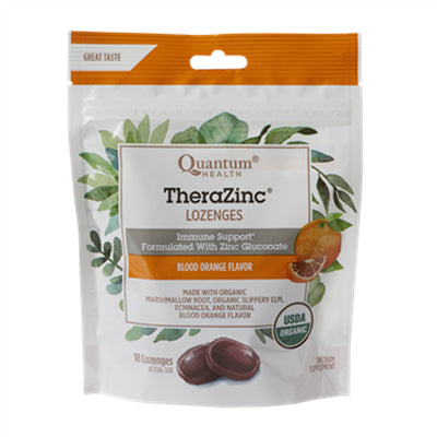 Quantum TheraZinc Organic Blood Orange 18 Lozenges