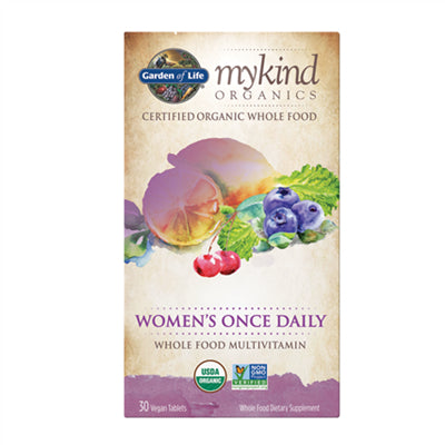 Garden of Life MyKind Organics Multivitamin Women's Once Daily 30 Vegan Tablets