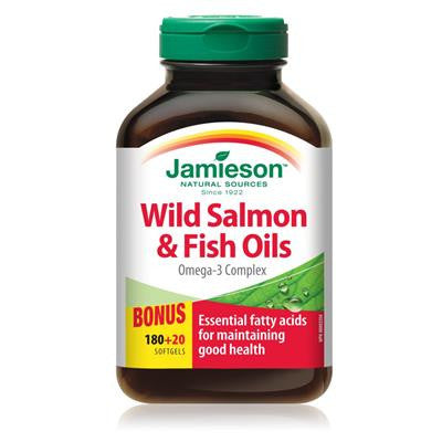 Jamieson Wild Salmon Oil Bonus 180+20 Softgels