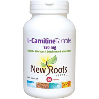 New Roots L-Carnitine Tartrate 500mg 90 Capsules