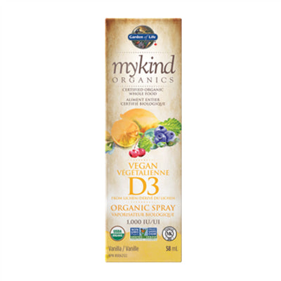 Garden of Life MyKind Organics Vitamin D3 Spray Vanilla 58ml