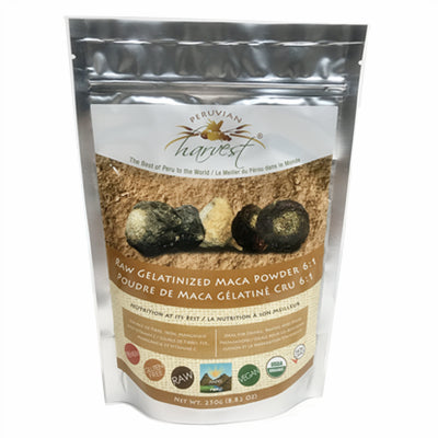 Uhtco Raw Peruvian Gelatinized Maca Powder 6:1 250g