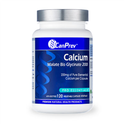 CanPrev Calcium Malate Bis-Glycinate 200 mg 120 VCapsules