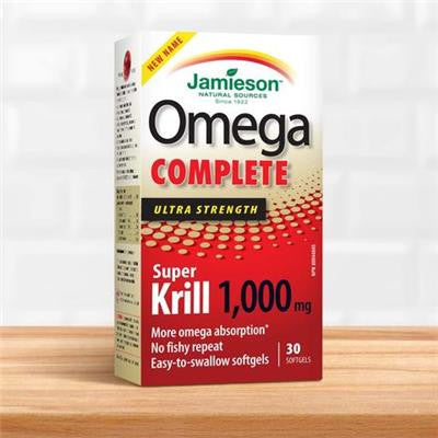 Jamieson Super Krill Oil 1000 mg 30 softgels