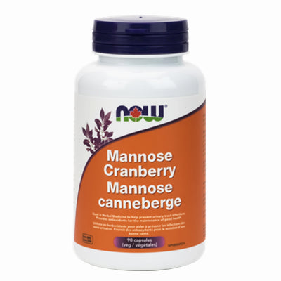 Now D-Mannose Cranberry 450 mg & 250 mg 90 VCapsules