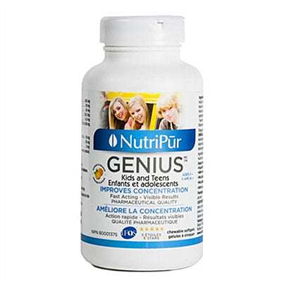 Nutripur Genius Kids and Teens 180 Softgels