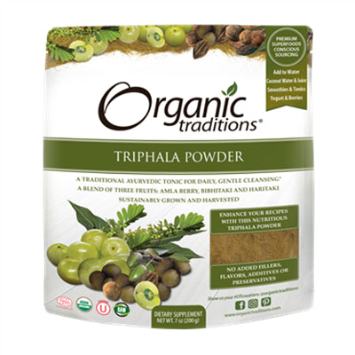 Organic Traditions Organic Triphala Powder 200g