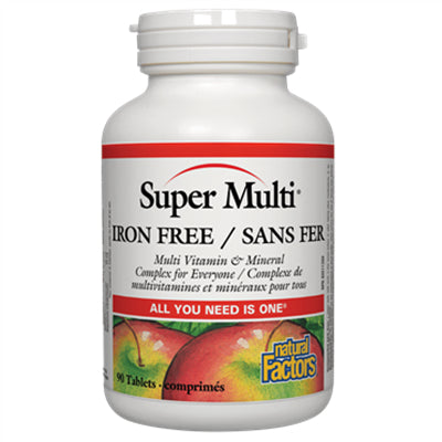 Natural Factors Super Multi® Iron Free 90 Tablets