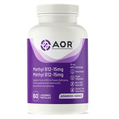 AOR Methylcobalamin Ultra 15mg 60 Lozenges