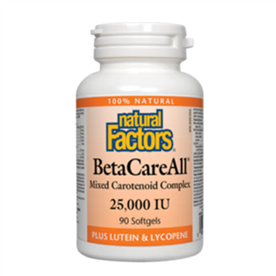 Natural Factors BetaCareAll 25,000 IU 90 Softgels