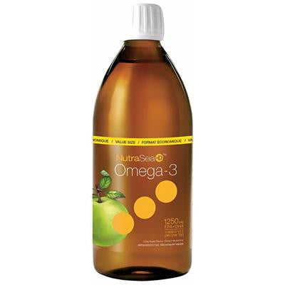 Nature's Way NutraSea+D Liquid Omega-3 Apple 500 ml