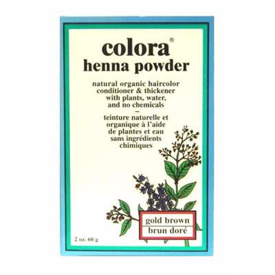 Colora Henna Powder - Gold Brown 60 g