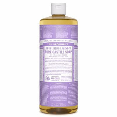 Dr. Bronner's Lavender Pure-Castile Liquid Soap 946 ml