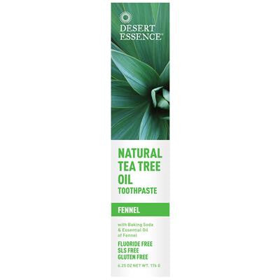 Desert Essence Natural Tea Tree Oil Toothpaste — Fennel 176g