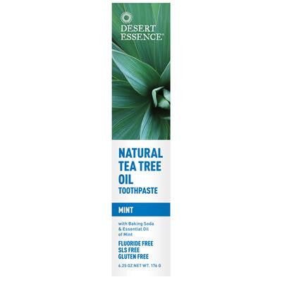 Desert Essence Natural Tea Tree Oil Toothpaste — Mint 176g