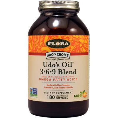 Udo's Oil 3-6-9 Blend 1000 mg 180 V-Softgels