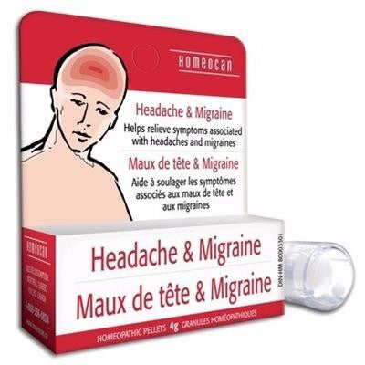 Homeocan Headache & Migraine Homeopathic Pellets 4g