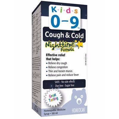Homeocan Kids 0-9 Cough & Cold Nighttime Formula 100ml