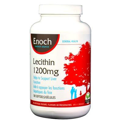 Enoch Lecithin 1200mg 180 Softgels-- Out of Stock